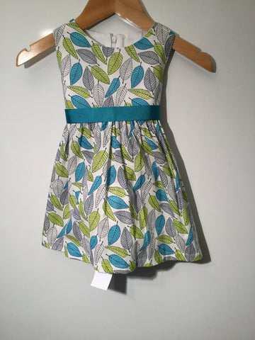 Girl's Multicoloured Leaf Dress