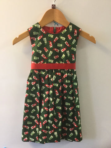 Christmas penguins girl's dress