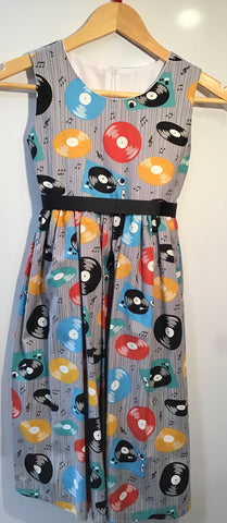 Vinyl revival girls dress