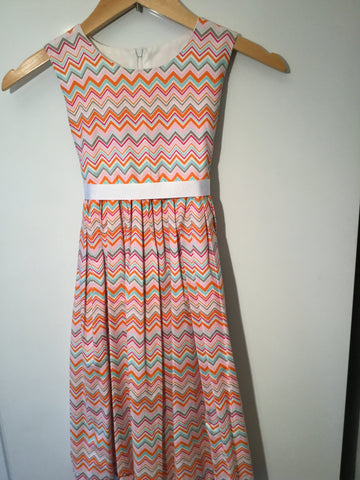 Girl's Horizontal Zigzag Dress