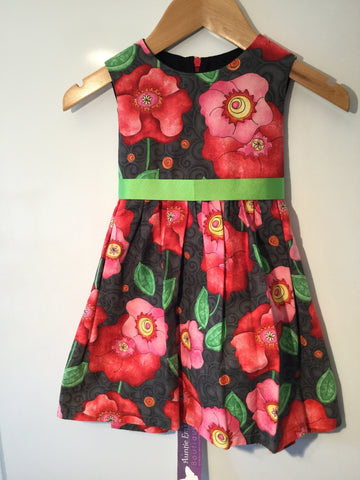 Girl's Abstract Rose Dress