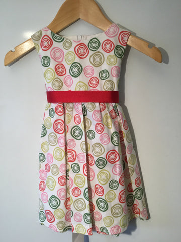 Art Deco rose girl's dress