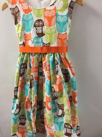 Girl's Large Multicoloured Owl Dress