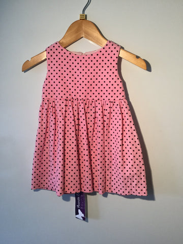 Girl's Polka Dot Needle Cord Dress