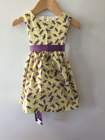 Girl's Purple Dragonfly Dress
