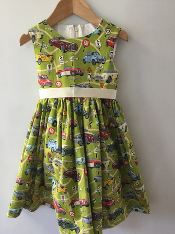 Girl's Nostalgic Motor Car Dress