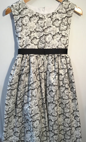 Girl's Monochrome Pansy Dress
