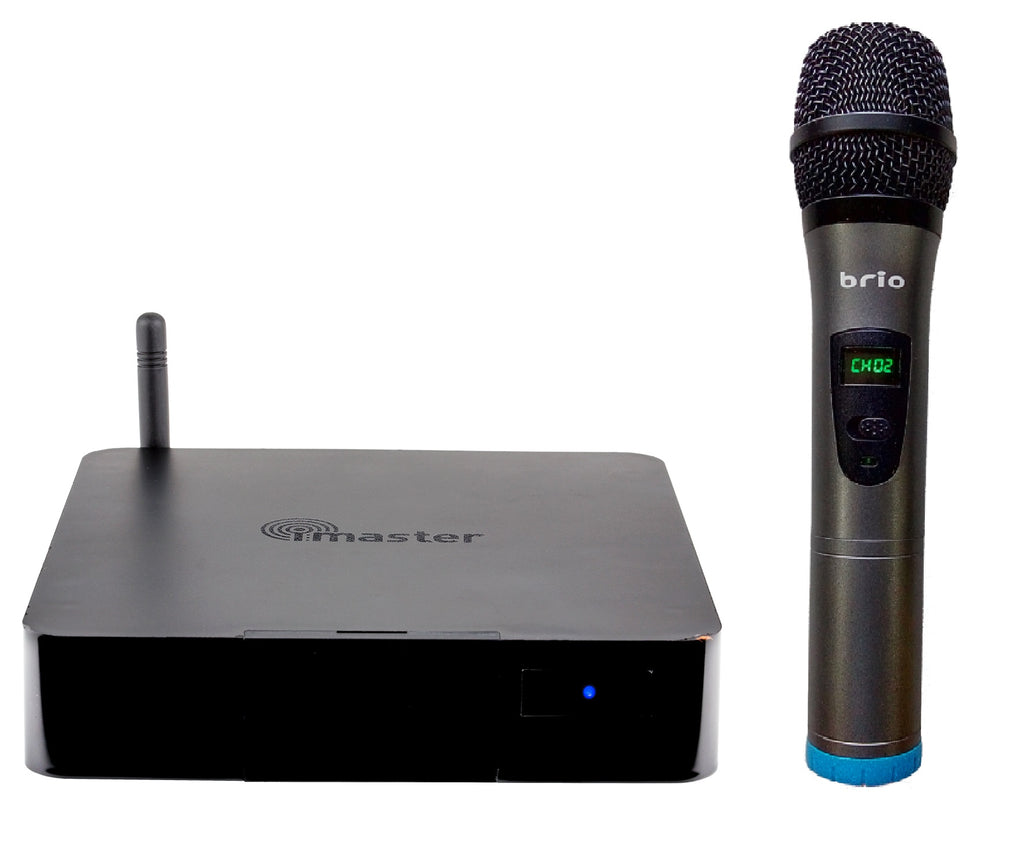 Brio 210A- HDMI Bluetooth Karaoke Mixer w/ 1x wireless microphone Reverb effect Pitch Shift Recording Vocal Remove