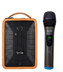 PartyPro 320A- Bluetooth Karaoke Stereo Speakers w Reverb Effects, Pitch Shift, & Wireless MIC