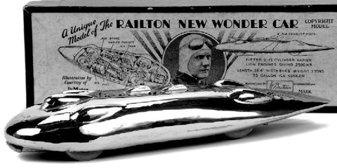 Model of the Railton Special - 1930s Supercar with an 'Art Deco' streamline design