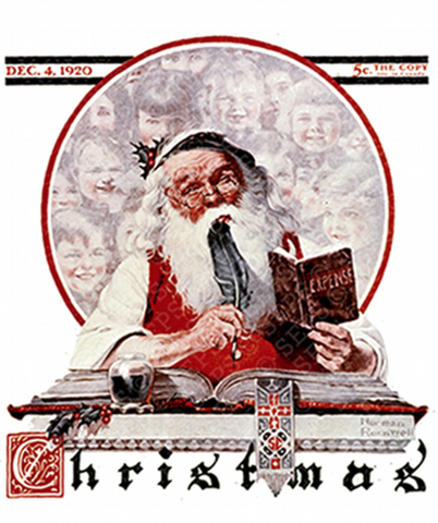 Santa by Norman Rockwell 1920