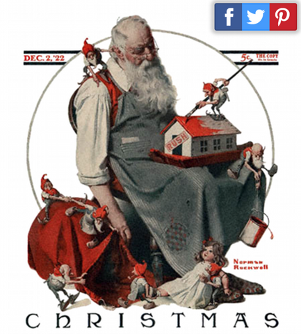 Santa by Norman Rockwell 1922