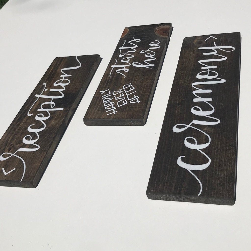 Wooden Directional Signage