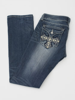 jeans femme western occasion Miss Me bling cowgirl