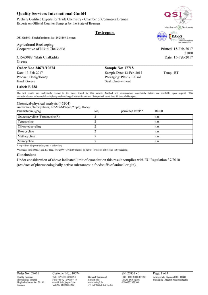 GmbH test report antibiotics 1
