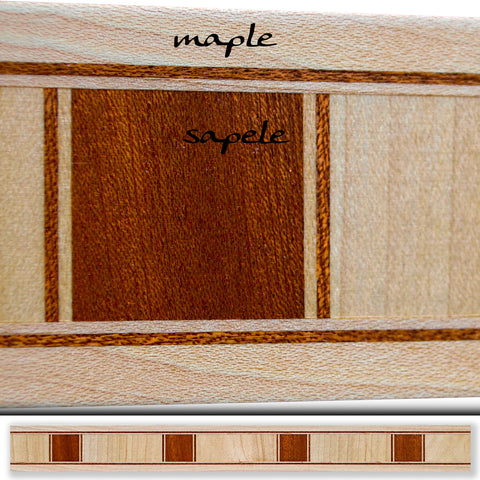 Inlay 1045 Maple, Sapele