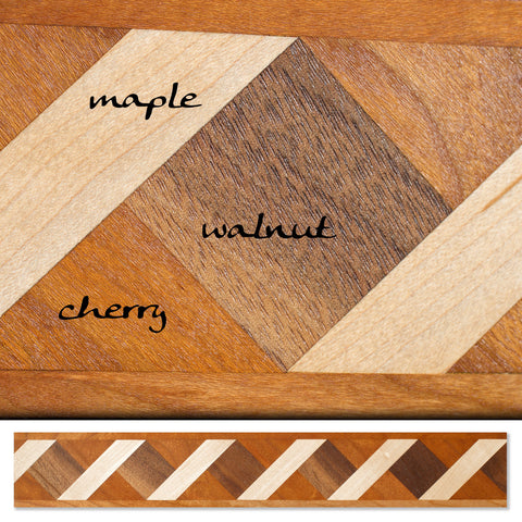 Inlay 1101 Cherry, Maple, Walnut