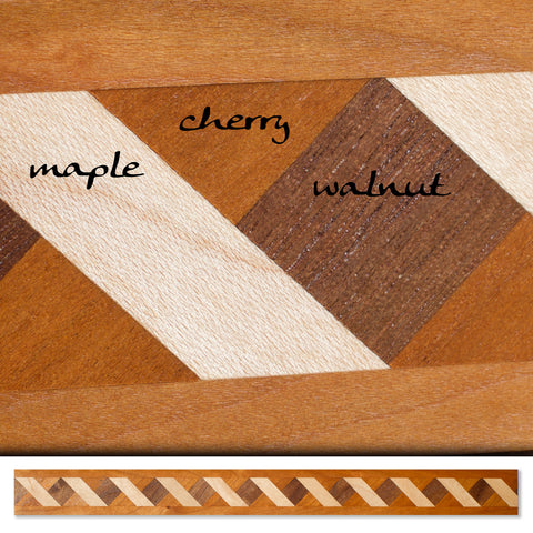 Inlay 1102 Cherry, Maple, Walnut