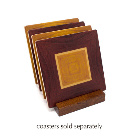 Coaster Holder Without Coasters - Holds Four 4 Inch Square Coasters