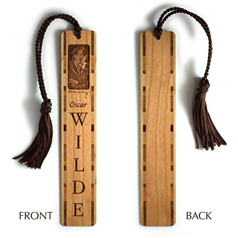 Oscar Wilde Engraved Wooden Bookmark with Brown Rope Tassel