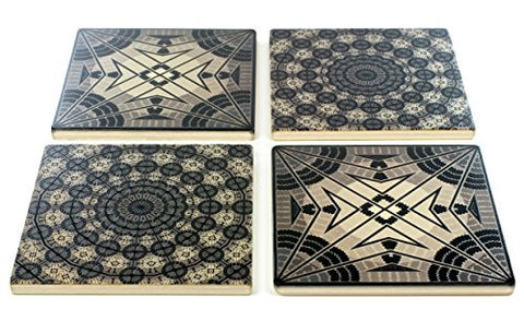 Set of 4 Wooden Coasters - Adapted From Unique Woodworking Patterns by Mitercraft - set 10