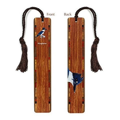 Kingfisher Wooden Bookmark with Tassel