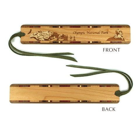 Olympic National Park, Washington - Wooden Bookmark with Original Engraving and Tassel