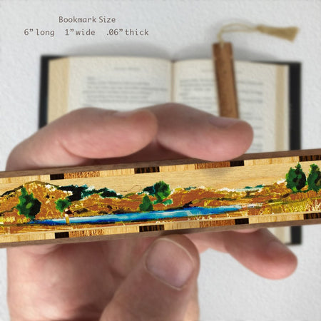 Fly Fisherman - Fishing - Wooden Bookmark with Tassel
