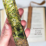 Trail at Olympic National Park, WA - Photograph Color Wooden Bookmark with Tassel