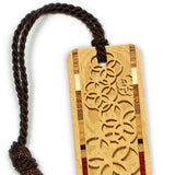 Engraved Wooden Bookmark with Tassel - Rings
