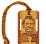 Author- Poet - Henry David Thoreau Engraved Wooden Bookmark with Tassel