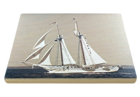 Schooners Sailing Coasters - From Original Painted Photography By Martha Everson - Set of 4 Wooden Coasters