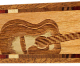 Acoustic Guitar - Musical  Instrument Engraved Wooden Hand Made Bookmarks with Tassel