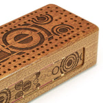 Pendulums Engraved Wooden Cribbage Board with quality metal pegs and deck of cards