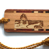 Arches National Park, Utah Wooden Bookmark - Original Engraving with Tassel