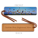 Hot Air Balloon Festival Albuquerque, NM - Wooden Bookmark with Suede Tassel