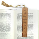 Alice Walker - A Wonderful World of Fiction Quote Engraved Wooden Bookmark with Tassel