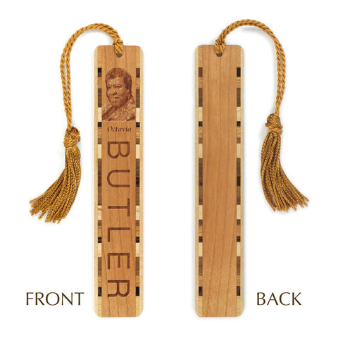 Author - Octavia Butler Engraved Wooden Bookmark with Tassel