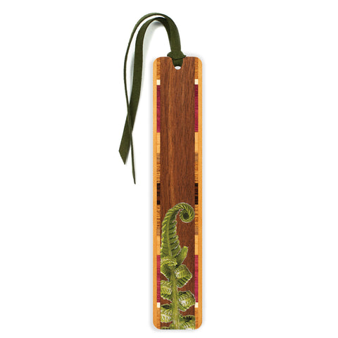 Fiddlehead Fern Wooden Bookmark with Tassel