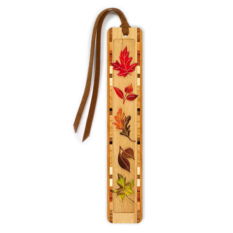Fall Leaves - Autumn - Arboretum Engraved And Colored Wooden Bookmark with Tassel