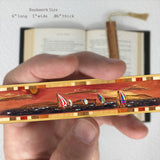 Sailing on Cedar - Spinnakers Engraved Color Wooden Bookmark with Tassel