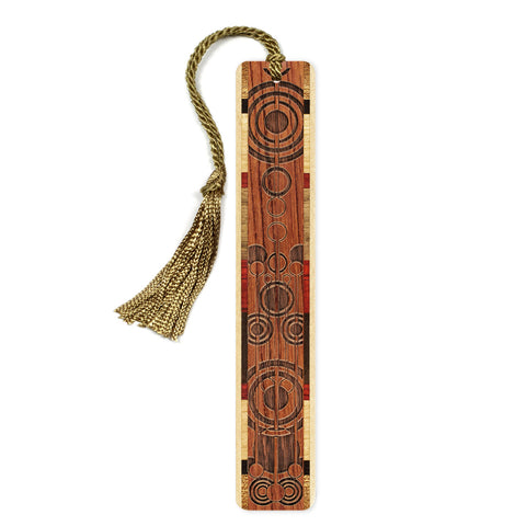 Pendulums Engraved Wooden Bookmark with Tassel on Bubinga