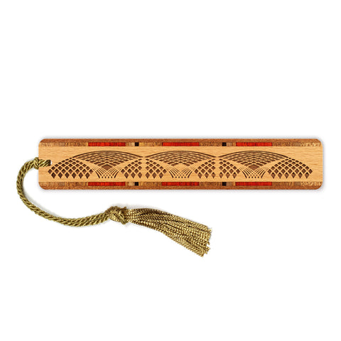 Engraved Solid Wooden Bookmark With Tassel - Network