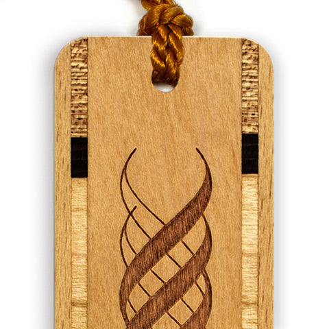 Engraved Wooden Bookmark with Tassel - Twirl