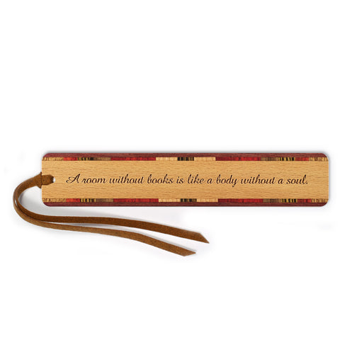 Reading - Book Quote Engraved Wooden Bookmark with Tassel