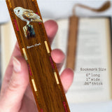 Barn Owl Wooden Bookmark with Tassel