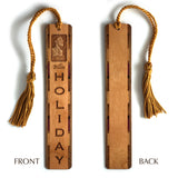 Billie Holiday Engraved Wooden Bookmark with Copper Rope Tassel