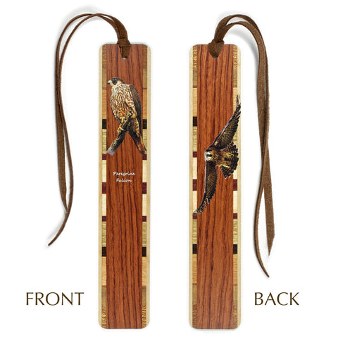 Peregrine Falcon - Wooden Bookmark with Tassel