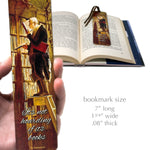 It's Not Hoarding If It's Books Quote with The Bookworm Wooden Bookmark with Suede Tassel