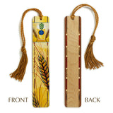 Beer - Hops and Barley - Art by Christi Sobel - Wooden bookmark with Tassel